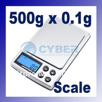 Mini electronic Digital Scale 500g x 0.1g Jewelry Weight Balance Free Shipping