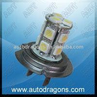 Free shipping H7 emark drl 13 leds daytime running lamp fog lamp super brightness H7SMD-13
