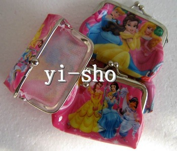 NEW design snow white girl Wallet //coin Purse/Storage coin bag/Pocket/Gift/Wholesale 60pcs