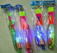 Amazing Toy Led Arrow Helicopter Light Up Flying Arrow, Elastic Powered Boomerang Frisbee Free Shipping 50pcs/lot