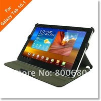 Slim heat formed leather case for Samsung Galaxy Tab 10.1 P7500/P7510,10pcs/lot, free shipping