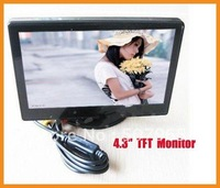 "free shipping 1pcs /lot Digital Car Rearview Color Camera Monitor 4.3"" TFT LCD"