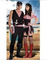 The uniform with their sweethearts outfit Halloween costumes club party dress pirates of the Caribbean clothing