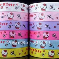 1''25mm hello kitty grosgrain ribbon printed ribbon freeshipping 6 Colors U pick