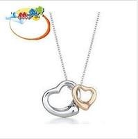 free shipping 12 pcs/lot wholesale fashion love heart pendant new arriving heart necklace fashion jewelry