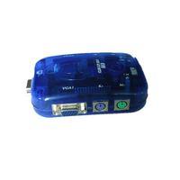 Blue plastic 2 port vga splitter **factory direct sale**