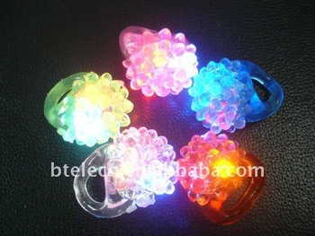 free shipping colorful led ring 5 different colors,silicon ring,soft ring,good bar free gift with very competitive price