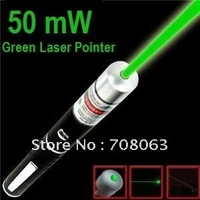 Free Shipping 2pcs/lot New 50 mw Green Beam Laser pointer