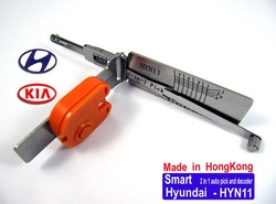 smart 2 in 1 auto pick /decoder KIA Hyundai HYN11 (new arrival,with LED light) ....LOCKSMITH TOOLS door lock opener bump key(China (Mainland))