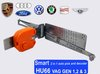 Shipping free 100% VW/AUDI HU66 smart 2 in1 auto pick and decoder VAG GEN1,2,&3  ....LOCKSMITH TOOLS lock pick set bump key
