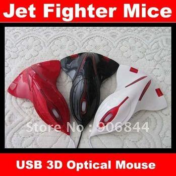 5pcs/lot Aircraft Jet Fighter 3D USB Optical Mouse Mice Laptop Freeshipping