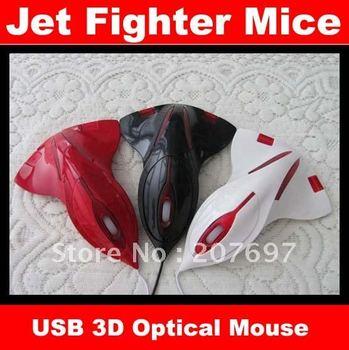 10pcs/lot Aircraft Jet Fighter 3D USB Optical Mouse Mice Laptop Freeshipping
