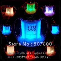 Best Quality Newest Apple Shape Alarm Digital LED Clock, Colorful Magic Desktop Calendar Electronic Gifts Clock Hot sale