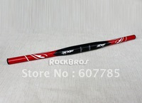 free shipping wholesale hot sale XXF MTB 3K carbon straight flat handlebar 31.8mm red