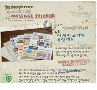 Free shipping  6 sheets/set  Vintage Postmark  Cute Stickers Wholesale