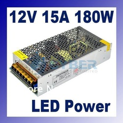 180W 15A Switching Power Supply for LED Strip light,220V AC input,12V output(China (Mainland))