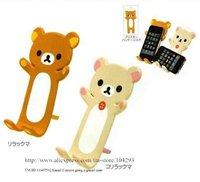 Free shipping 15pcs/lot Rilakkuma bear mobile phone stand/ Holder for iphone 4