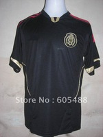 Free shipping ! 11-13 thailand best quality original Mexico away soccer shirt ,Mexico black soccer jersey