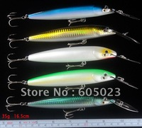 20pcs/lot fishing tackle freeshipping fishing lures 16.5cm plastic minnow fishing bait