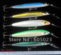 20pcs/lot fishing tackle freeshipping fishing lures 16.5cm plastic minnow fishing bait