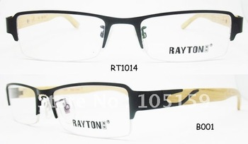 New style wooden temples optical frames, fashion models eyeglasses frame,high quality,best price,MOQ 1PC(RT1014)