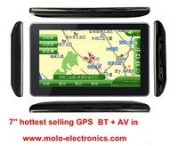 "top selling 7"" car GPS navigation, GPS navigation system, 4GB, Bluetooth & AV in 4GB freeshipping ,"