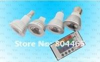 remote control led spotlight,RGB MR16/Gu10/E14/E27 spotlight,for decoration lighting,3w RGB light