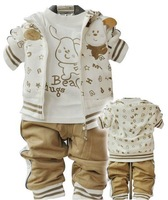 Autumn 2011 children's clothing baby boy baby clothes baby clothes autumn Korean version of the new three-piece fitted 100% cott