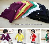 Free shipped 20pcs korean brand b2w2 lollipop 2011 children kid cardigan sweater
