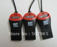 M2 Memory Card Reader Good Quality Key Chain USB 2.0 Mini TF T-Flash SD M2 Memory Card Reader, USB Card Reader