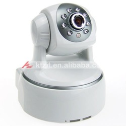 802.11a/b/g WIFI+LAN 300KP H.264 IP Camera with Audio and 8-LED Night Vision(China (Mainland))