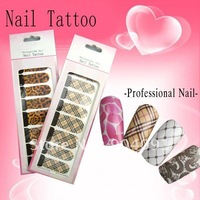 Наклейки для ногтей HOTSALE Flower series Nail Sticker, 22 different styles available Nail / Nail Art 3D nail sticker/lot