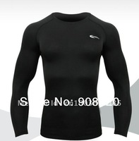 [On Sale] O-1  Men's WINTER NEW O-neck Brushed   Long Sleeve Thermal Top  For Sports Black/Dark Gray