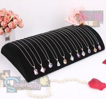 Black Velvet Half Pillow Style Jewelry Tray Display