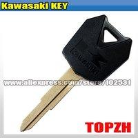 Motorcycle Black Key Blank For Kawasaki Motorbike Brand New TA041