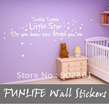 Kids Nursery Bedding Room on Quote Nursery Room Twinkle Twinkle Little Star For Kids 300x1006mm