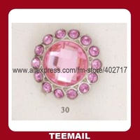20m shank button with acrylic rhinestone and excellent plating base for popular promotion