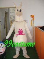 Free Shipping Adult Size White Kangaroo Cartoon Cosplay Mascot Costume Cosplay Christmas Hallowmas Party Dress