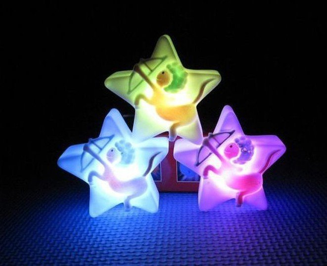 wholesale with cheap price Charming Christmas lights Colorful LED Night Light color(China (Mainland))