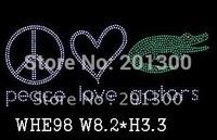 Hotfix rhinestone patterns,Peace love gators design ITEM# WHE98