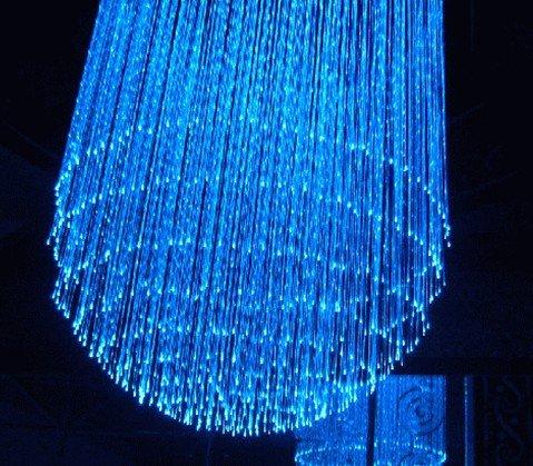 7*0.75mm Sparkle Plastic Optical Fiber Cable;water screen optical fiber(China (Mainland))