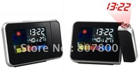 Top Quality Weather Station Clock Iphone Shape Colorful Large LCD Screen Projection Alarm Clock Digital Desktop Clock