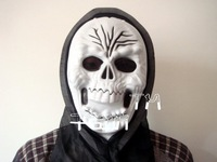 Halloween costume party supplies single one-sided skeleton mask (forehead wrinkles) king