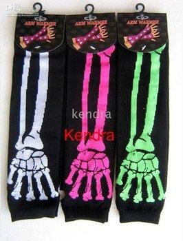 Wholesale - 24 Pairs Nightmare Before Christmas Warmer Arm Gloves leg warm Halloween costume mascot