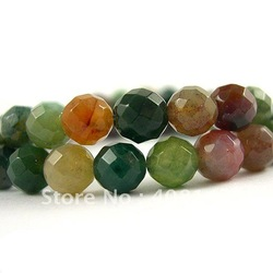Free Shipping! Charm Multicolored India Agate Round Faceted Loose Beads 6mm-62pcs Strand/Loose Stone(China (Mainland))