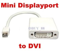 Free shipping**5pcs/lot**17cm Mini Displayport Display Port DP to DVI Adapter Cable for Apple MacBook