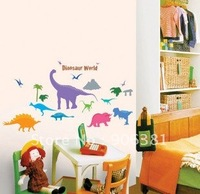 Dinosaur Wall paper lovely decal removable stickers Free shipping