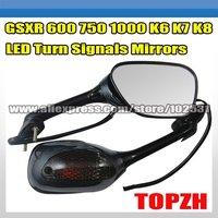 GSXR 600 750 1000 K6 K7 K8 Suzuki LED Turn Signal Mirrors TA024