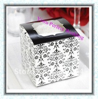 Hot Sales Wedding 9x9 Cupcake Boxes with Filigree Pattern (XY-273B)