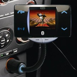 2GB Handsfree Stereo Bluetooth MP4 Car Kit + 1.8 Inch LCD Caller ID + FM Transmitter Free Shipping(China (Mainland))
